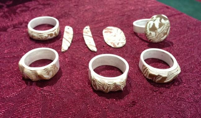 Woodgrain Ring, Bead & Button 2013