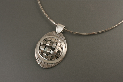 Basketweave Pendant