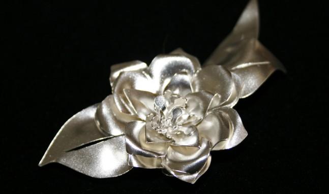 Gardenia Brooch